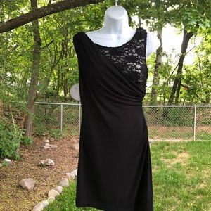 Black Lace Asymmetrical Bodice Special Occ. Dress